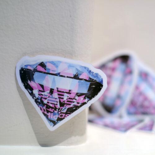"#1356 adidas Originals Diamond Tokyo Japan imports 3/"" Plastic Decal sticker"
