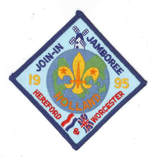 1995 World Scout Jamboree UK HEREFORD & WORCESTER SCOUTS Contingent Patch
