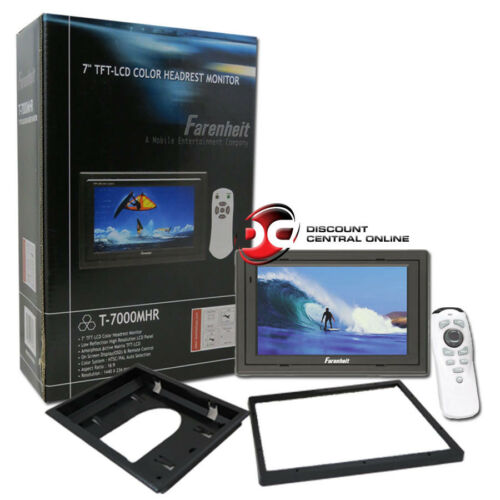 "FARENHEIT 7/"" UNIVERSAL TFT-LCD HEADREST MONITOR WITH REMOTE"