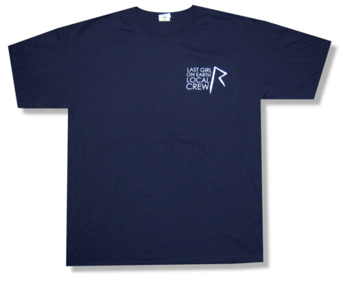 """RIHANNA /""""LOCAL CREW ON BLUE/"""" NVY T-SHIRT LAST GIRL ON EARTH TOUR NEW OFFICIAL XL"""