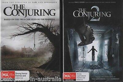 The Conjuring 1+2 DVD 2-MOVIES TRUE STORY HORROR BRAND NEW