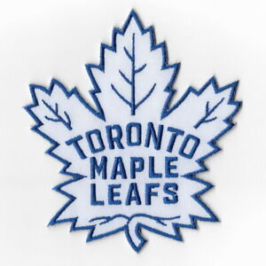 NHL-Toronto-Maple-Leafs-White-Iron-on-Patches-Embroidered-Patch-Applique-Badge