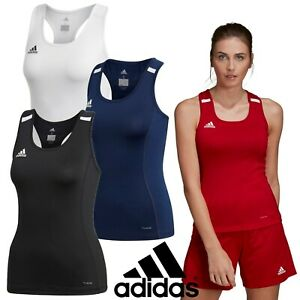 adidas-T19-Climacool-Women-039-s-Tank-Top-Gym-Running-T-Shirt-Sports-Track-Tee
