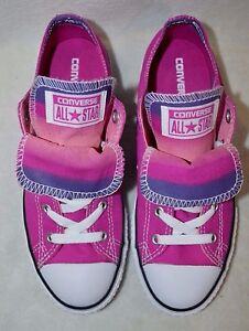 e1417e14d740 Image is loading Converse-Chuck-Taylor-Double-Tongue-Plastic-Pink-Girl-