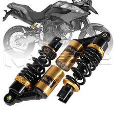 """9.25"""" 235mm Motorrad Stoßdämpfer Paar Federbein shock für Honda Yamaha Gold"""