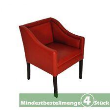 4x Designsessel Senator rot Sessel Senator-Sessel Bürosessel Leder Ledersessel
