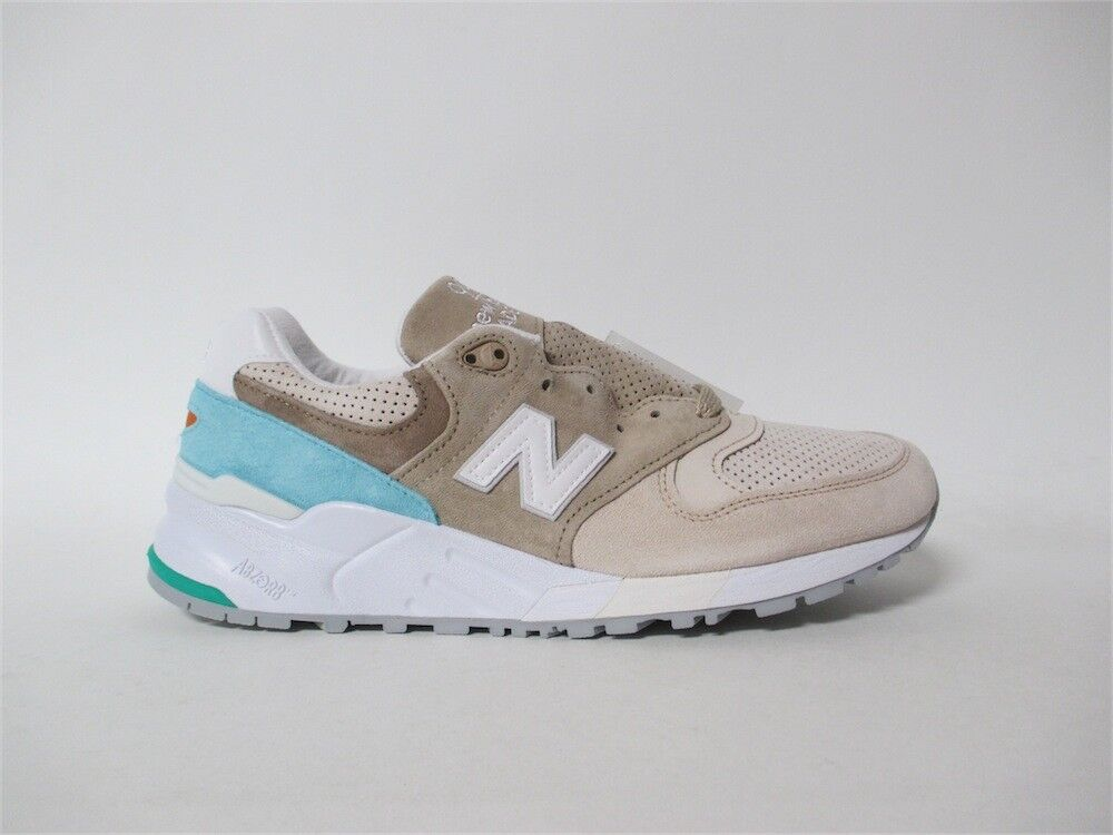 New New New Balance 999 Made in USA Bone Sand Turq White Grey Concepts Sz 9.5 M999CSS 94af4d