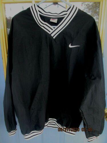 Vintage 90s Nike Pullover Windbreaker Black White