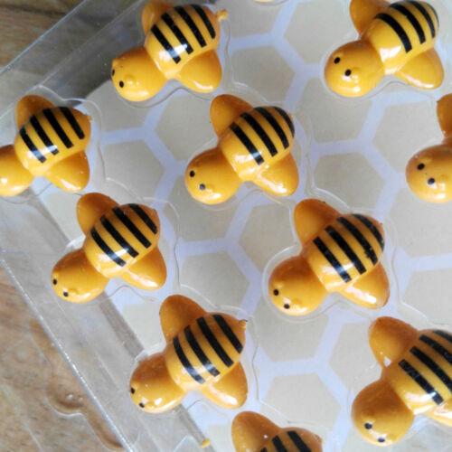 24 x Pinwandnadeln Pins Bienen Immen Honig Landkartennadeln Dekopins Pin Gelb