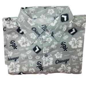 Chicago-White-Sox-Mens-XL-Hawaiian-Aloha-Flora-Button-Front-Shirt-NWOT-SGA