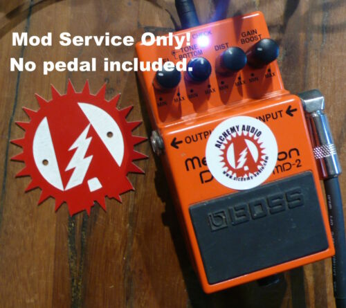 Modify your Boss MD-2 Mega Distortion Effects Pedal Alchemy Audio Mod No Pedal