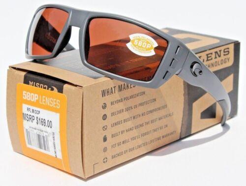 COSTA DEL MAR Rafael POLARIZED Sunglasses Matte Gray//Copper 580P NEW $169