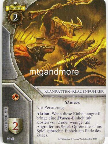 1x klanratten-griffes leader #023 Warhammer invasion masqué royaumes