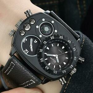 Luxus-Herren-Mode-Edelstahl-Militaer-Analog-Sport-Quarz-Armbanduhr