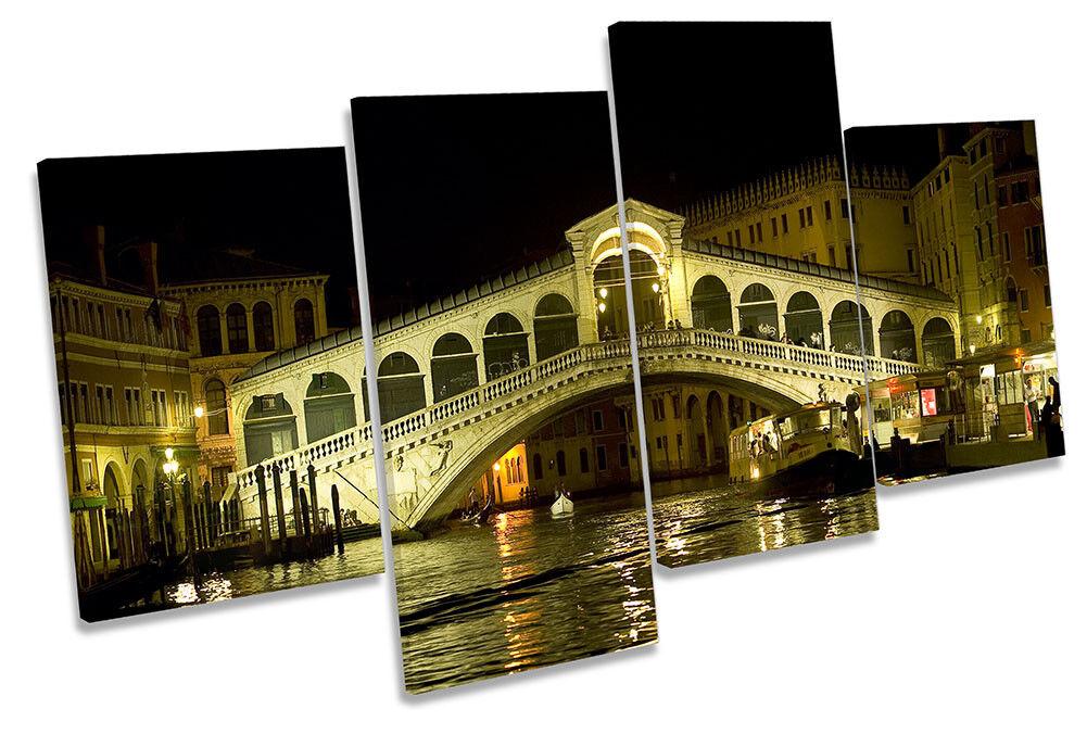 Venecia Italia Italia Venecia Puente Rialto Foto LONA pared arte impresión de múltiples d24538
