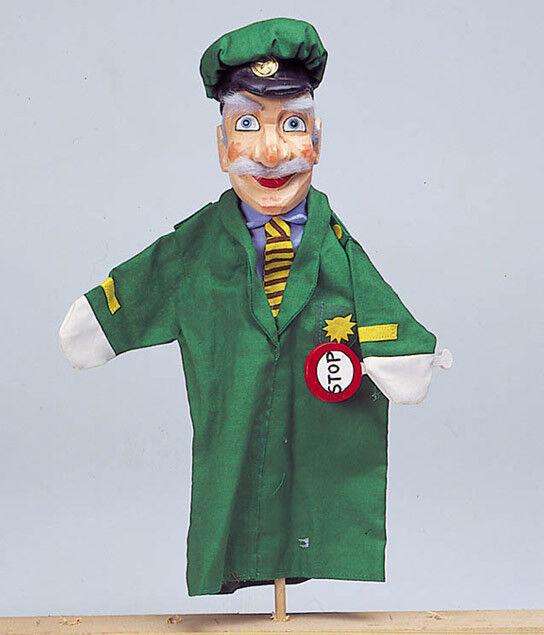 Handpuppe Handpuppe Handpuppe POLIZIST Theaterpuppe Holzkopf Kasperlepuppe Holzpuppe Puppentheater 0fcc8f
