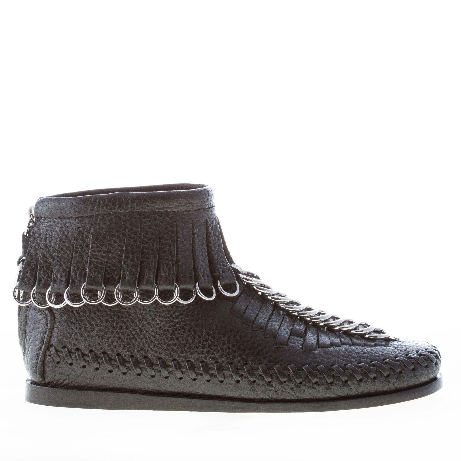 ALEXANDER WANG damen schuhe shoes Montana black leather ankle boot fringes rings