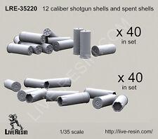 Live Resin 1/35 12 Caliber Shotgun Shells (40 sets) and Spent Shells (40 sets)