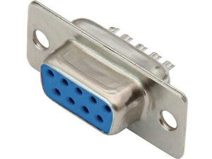 D-SUB-DB-9-F-GN-Buchse-Loetanschluss-Standardverbinder-weiblich