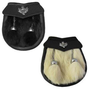 Enfant Kilt Sporran//Kids sporran//Semi Dress baby Kilt Sporran Lapin Noir Fourrure