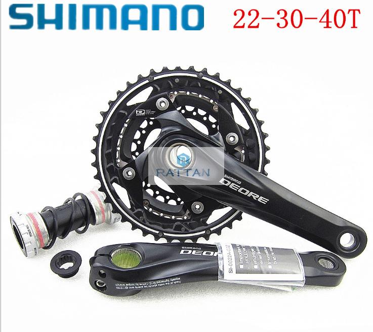 Shimano Deore FC M612 Bielas 10 velocidad 22-30-40T con soporte inferior BB52