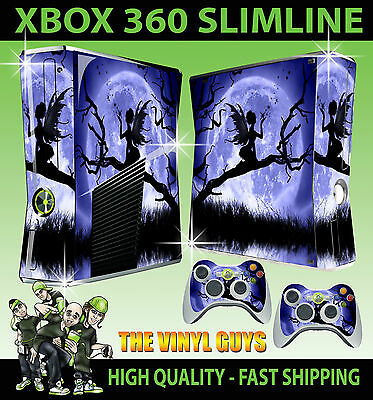 Faceplates, Decals & Stickers Video Game Accessories Xbox 360 Slim Sticker Moonlight Gothic Fairy Silhouette Wings Skin & 2 Pad Skins Fashionable And Attractive Packages