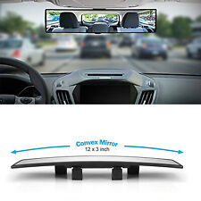 Universal 300mm Car Rear Mirror Wide-angle Rearview Mirror Auto Wide Convex Curve Interior Clip On Rear View Mirror