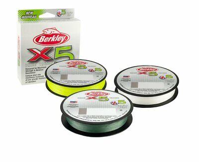Berkley X5 Low-vis Vert Tresse Tressé Ligne De Pêche Toutes Tailles