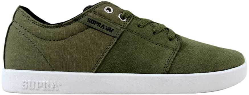 Supra Stacks Olive Black-White S44090 Men's SZ 8