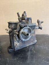Antique Cast Iron Manzel Libricator Single Feed Hit Miss Steam Engine Oiler