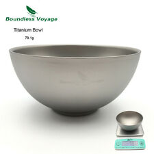 Boundless Voyage Outdoor Camping Backpacking Titanium Double-wall Bowl Ti1537B