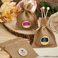 150 Personalized Burlap Treat Bags Wedding Shower Party Gift Favors on sale