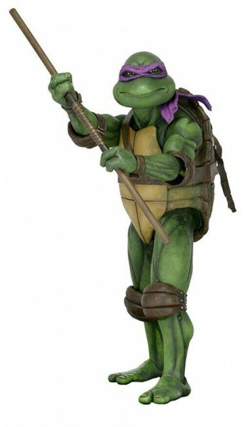 clásico atemporal Teenage Mutant Ninja Turtles cuarto escala Donatello Donatello Donatello Figura De Acción Película [1990]  Vuelta de 10 dias