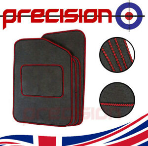 Grey Classic Carpet Car Mats Red Check for MG 3 (2013-2017)
