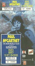 RARE / TICKET DE CONCERT - PAUL McCARTNEY ( BEATLES ) LIVE PARIS 1993 / LIKE NEW