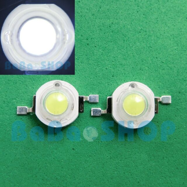 10pcs 1W Pure Cold White 6000K High Power LED Lamp Beads Light Spotlight Bulb