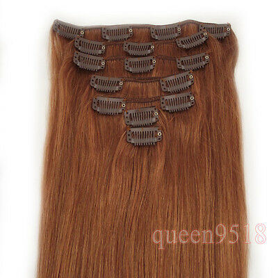 "15""18""20""22""24""26""28""7PCS Clip In Remy Human Hair Extensions 70g 80g 100g 120g"