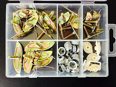 Chevy 53x Door Body Side Moulding Fasteners Exterior Trim Clips Kit Fender NOS