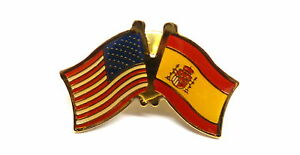 US and Spain Flag Lapel Pin / US & Spain Pin