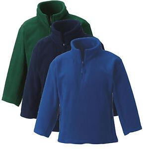 Russell Jerzees Boys Girls Childs GREEN NAVY ROYAL BLUE Zip Neck Fleece to clear