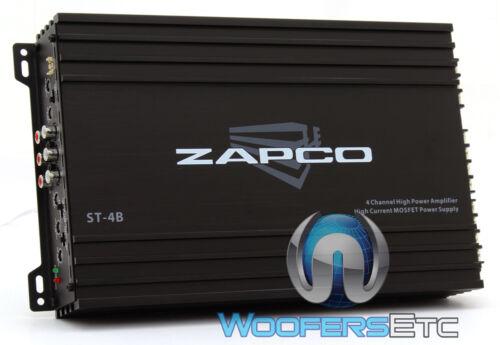ZAPCO ST-4B AMP 4-CHANNEL 65W X 4 RMS COMPONENT SPEAKERS TWEETERS AMPLIFIER NEW