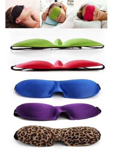 Deluxe 3D Schlafmaske Reise Schlafbrille Augenmaske Augenbinde in 6 Farben