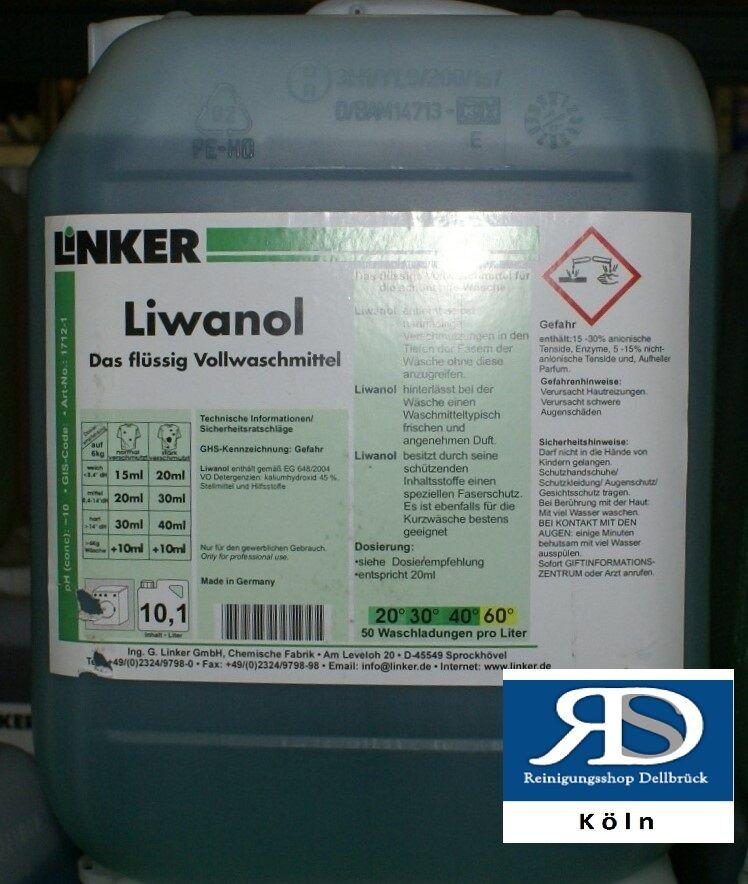 Liwanol Flüssigwaschmittel  Vollwaschmittel 10 Liter  Linker Profi-Chemie