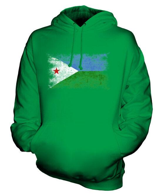 DJIBOUTI DISTRESSED FLAG UNISEX HOODIE TOP JIBUTI DJIBOUTIAN DJIBOUTI