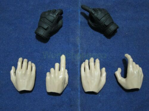 """1//6 Scale Set of 6 Hands Set for 12/"""" Action figure Toys"""