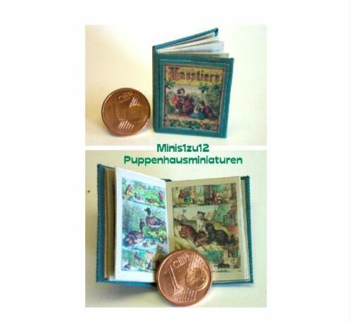 Puppenstube Kinderbuch 1012# Haustiere Miniaturbuch Puppenhaus M 1:12