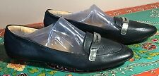 COACH RUTHIE BLACK LEATHER COACH VAMP OXFORD FLAT SLIP SLIDE ON SHOES  7 1/2 M