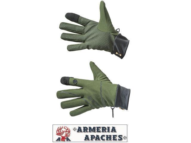 Beretta Softshell Gloves GUANTI CACCIA TEMPO LIBERO verde