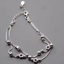Sterling silver Ball Flower Bracelet by Lepos Jewellery