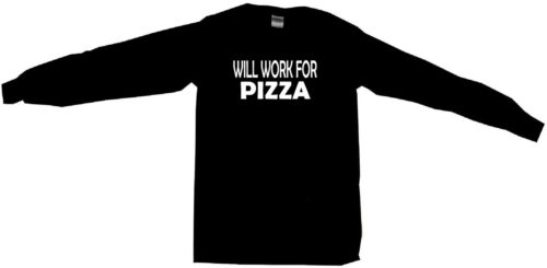 Will Work For Pizza Womens Tee Shirt Pick Size Color Petite Regular